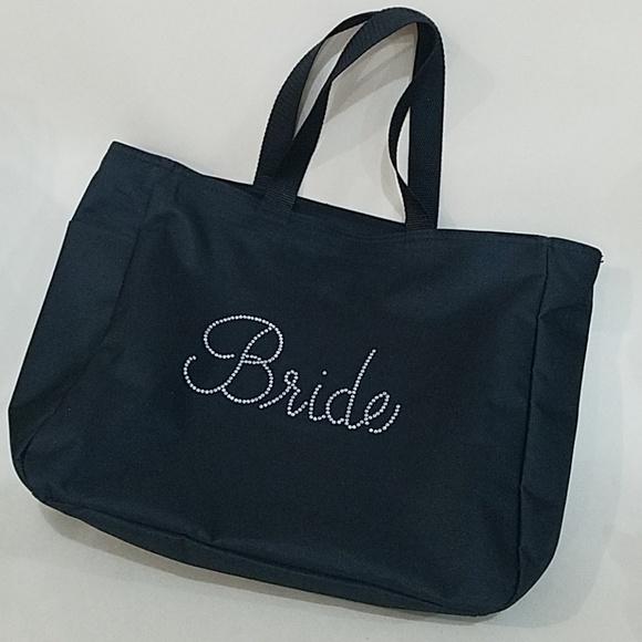 Port Authority Handbags - Black Bride Newlyweds cosmetics hair bag purse